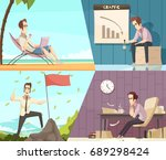 business success and failure... | Shutterstock .eps vector #689298424
