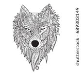 zendoodle stylize of dire wolf