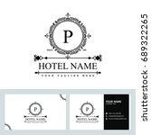 luxury logo template in vector... | Shutterstock .eps vector #689322265
