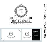 luxury logo template in vector... | Shutterstock .eps vector #689322379