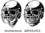 graphic black and white human... | Shutterstock .eps vector #689331421