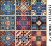 seamless pattern with... | Shutterstock .eps vector #689333995