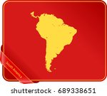 map of south america | Shutterstock .eps vector #689338651