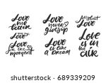 love is in the air. love me... | Shutterstock .eps vector #689339209