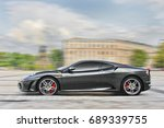 gray ferrari f430  in motion.... | Shutterstock . vector #689339755