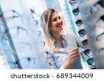 health care  eyesight and... | Shutterstock . vector #689344009