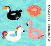 vector collection of  floats in ... | Shutterstock .eps vector #689349001