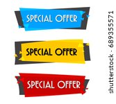 special offer sale banner for... | Shutterstock .eps vector #689355571