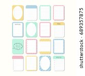 sheets of paper. template... | Shutterstock .eps vector #689357875