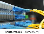 servers in a technology data center - stock photo