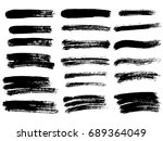 vector black paint  ink brush... | Shutterstock .eps vector #689364049