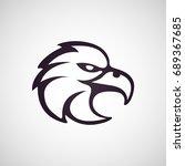 eagle vector logo template | Shutterstock .eps vector #689367685