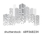 city skyscrapers vector... | Shutterstock .eps vector #689368234