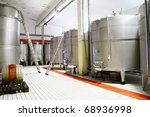 Wine cistern for fermentation - stock photo