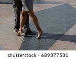 Tango Dancers In Paris