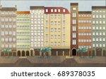 urban lanscape. european style... | Shutterstock .eps vector #689378035