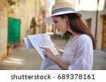 travel guide  tourism in europe ... | Shutterstock . vector #689378161