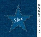 star logo creative concept with ... | Shutterstock .eps vector #689396059