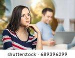 affair. | Shutterstock . vector #689396299