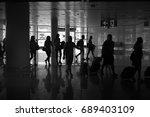 barcelona el prat airport bcn.... | Shutterstock . vector #689403109