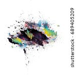 abstract colorful grunge... | Shutterstock . vector #689405209