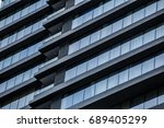 futuristic architecture  | Shutterstock . vector #689405299