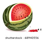 six alive seeds escape from gmo ... | Shutterstock .eps vector #68940556