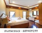 luxury interior design in... | Shutterstock . vector #689409199