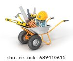 construction concept.... | Shutterstock . vector #689410615
