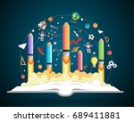 start up concept. pencils...   Shutterstock .eps vector #689411881