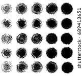 geometric circular element....   Shutterstock . vector #689413651