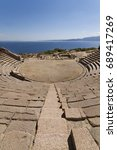 antique amphitheatre in the... | Shutterstock . vector #689417269