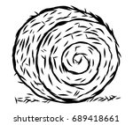 Rolled Hay   Cartoon Vector And ...