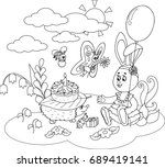 vector illustration black and... | Shutterstock .eps vector #689419141
