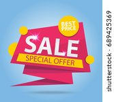 sale special offer best price... | Shutterstock .eps vector #689425369