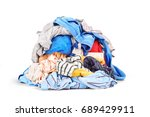 pile of clothes isolated on... | Shutterstock . vector #689429911
