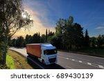 truck transportation | Shutterstock . vector #689430139