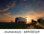 truck transportation | Shutterstock . vector #689430169