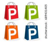 logo icon for shopping business.... | Shutterstock .eps vector #689431405