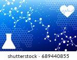 medical background in digital...   Shutterstock .eps vector #689440855