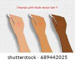 vector collection of hands... | Shutterstock .eps vector #689442025