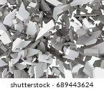 3d fractured chaos | Shutterstock . vector #689443624