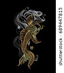 koi carp   asian spiritual... | Shutterstock .eps vector #689447815