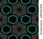 hexagonal symmetry vector... | Shutterstock .eps vector #689452204