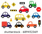 collection of different toy...   Shutterstock .eps vector #689452369