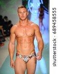 miami  fl   july 20  a model... | Shutterstock . vector #689458555