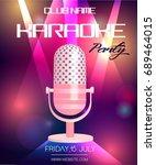 karaoke party invitation poster ...   Shutterstock .eps vector #689464015