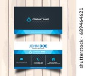 blue visit card with background ... | Shutterstock .eps vector #689464621