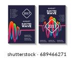 liquid  flow  sound wave  fluid ... | Shutterstock .eps vector #689466271