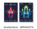 liquid  flow  sound wave  fluid ... | Shutterstock .eps vector #689466274